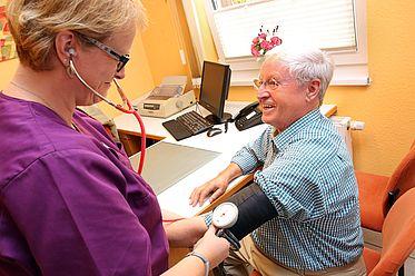 Blutdruckmessungen gut betreut und fachlich kompetent.